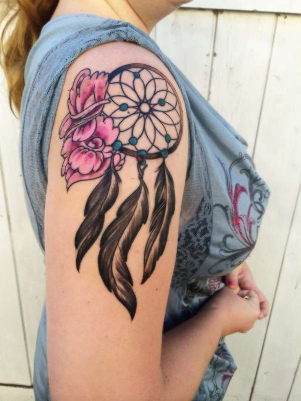 My new dreamcatcher tat tattoo