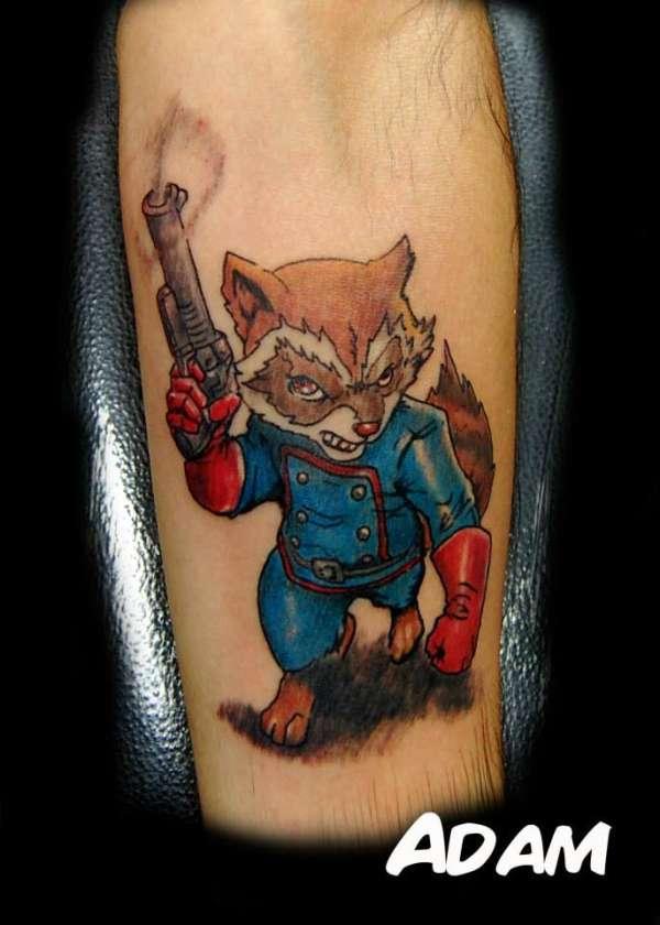 c6dc25c0c Rocket Raccoon tattoo