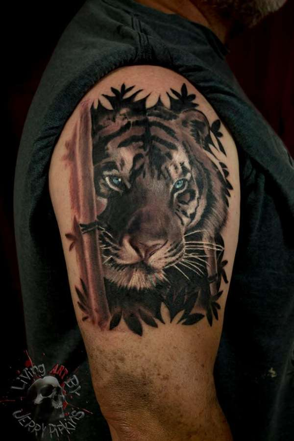 Bamboo Tiger Tattoo
