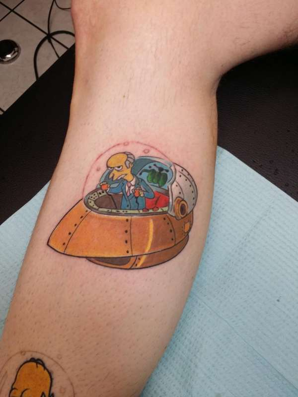 Burns in SPACE, Space, space.... tattoo