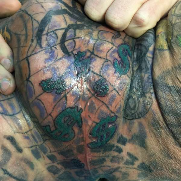 Cool dollar sign tattoo images for Testicle tattoo pictures