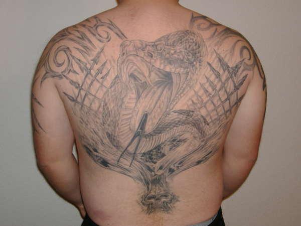 My back piece tattoo