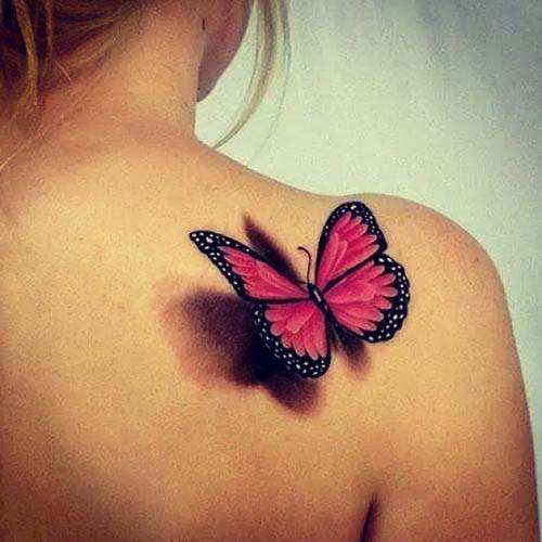 A FLUTTERBY tattoo