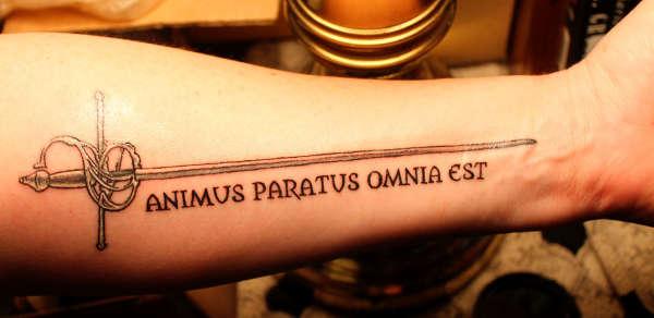 Animus Paratus Omnia Est tattoo