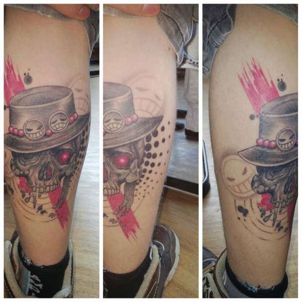 One Piece, Portgas D. Ace tattoo