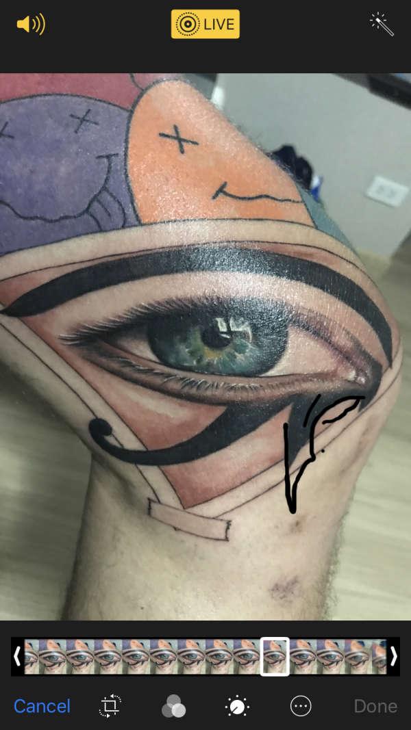 Eygptian Eye tattoo