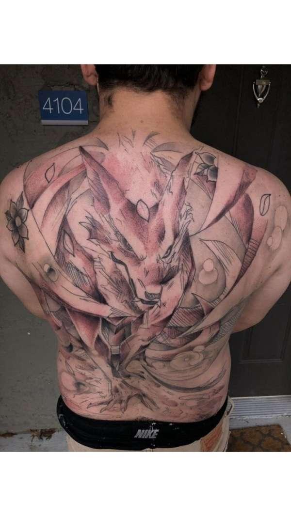 Kurama from Naruto different style art tattoo