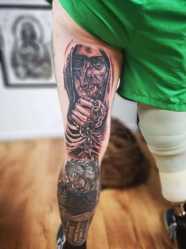 MYTH LEG SLEEVE tattoo