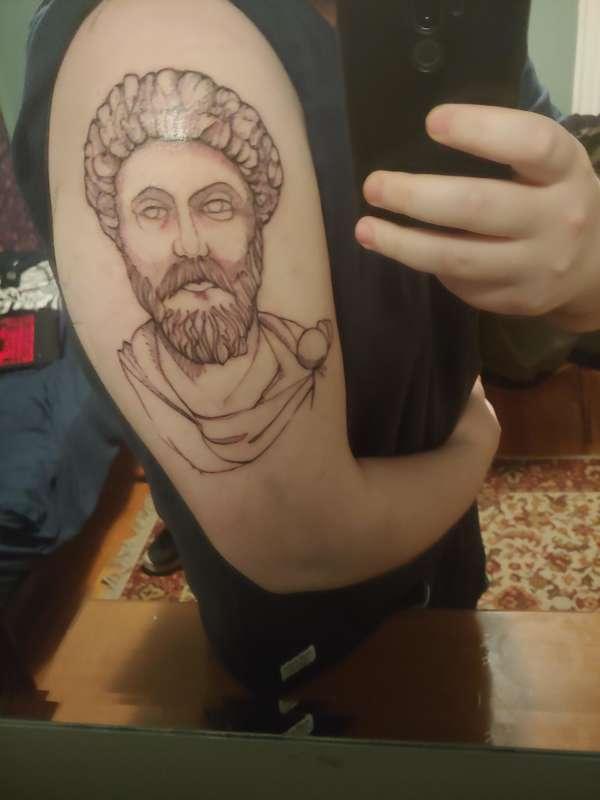 Marcus Aurelius ARM piece. My first tattoo tattoo