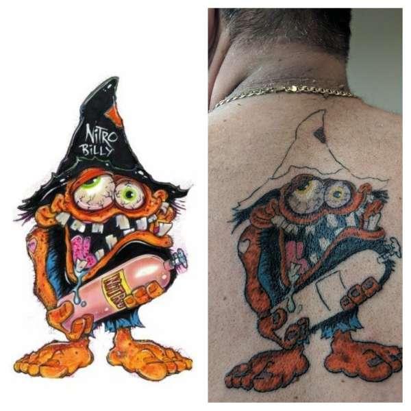 Nitro bob tattoo
