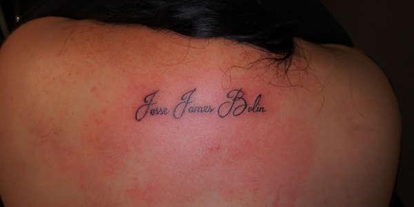 Sons name tattoo