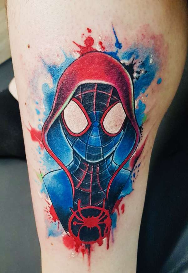 Spider-Man Miles Morales tattoo