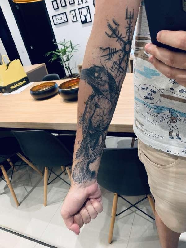 Viking Raven tattoo
