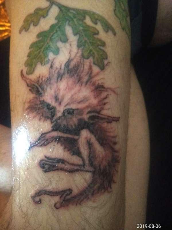 Wood sprite tattoo