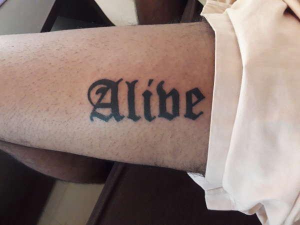 Alive 2 tattoo