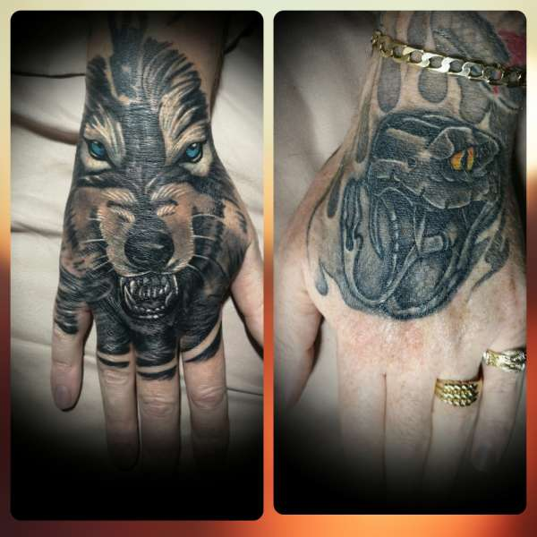 Animal hands tattoo
