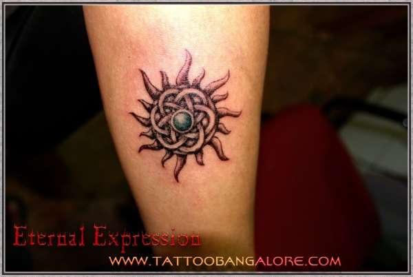 Celtic Sun Tattoo at Eternal Expression tattoo