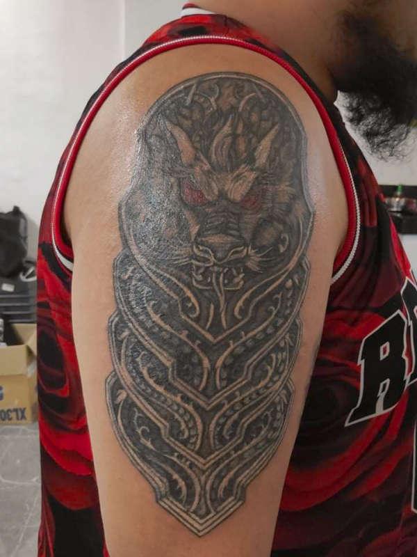 DRAGON ARMOR tattoo