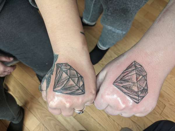 Diamond in the rough tattoo