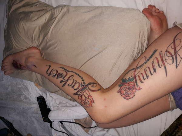 Leg piece tattoo