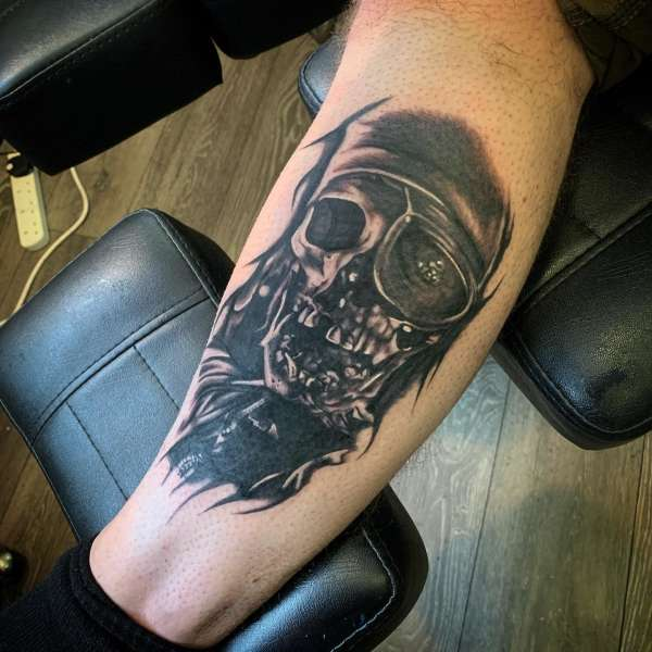 One eyed Willy tattoo