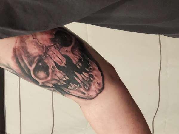 Skull sleeve in progress part 4 tattoo