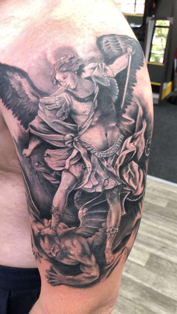 St Michael tattoo