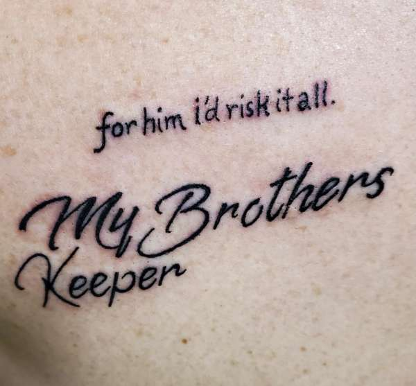 brother keeper by SANTA CLAUSE!!!!!!! tattoo