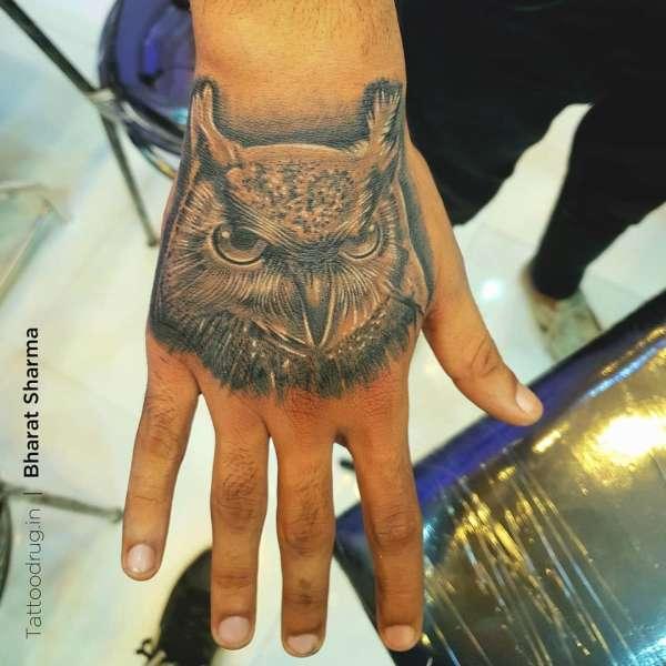 owl tattoo by tattoo drug tattoo