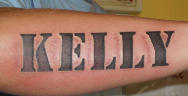 girlfriends name tattoo