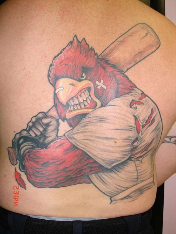 bad ass cardinal tattoo