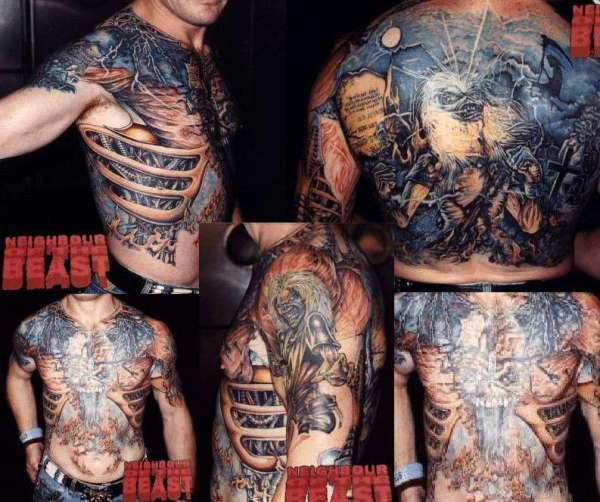 IRON MAIDEN TRIBUTE tattoo