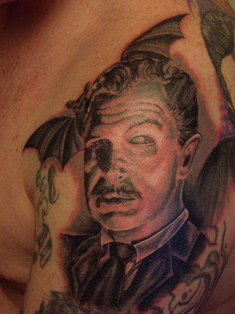Vincent Price tattoo