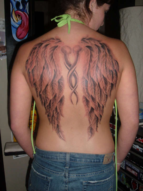 wings third session tattoo
