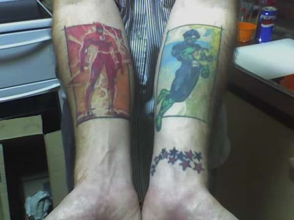 The Flash Amp Green Lantern Tattoo