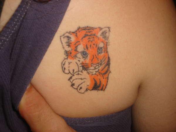 cute tiger tattoo