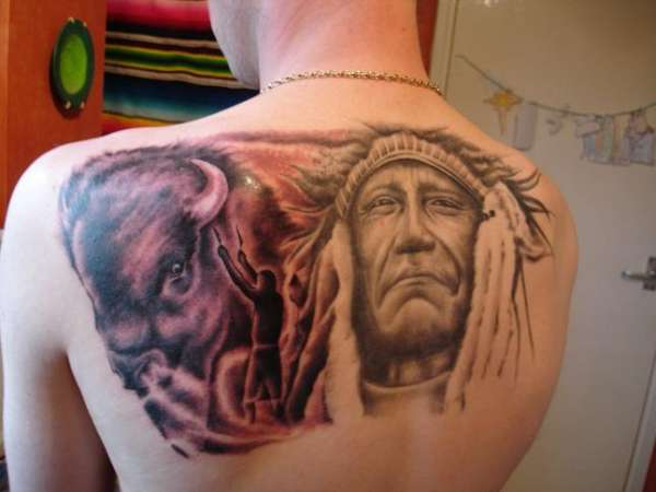 buffalo (back) tattoo