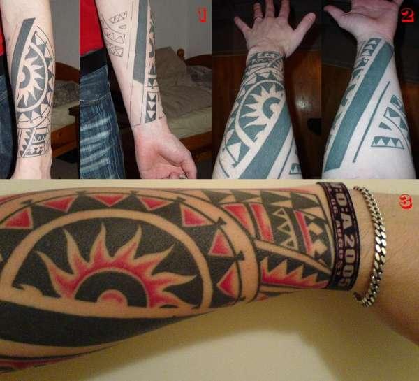 Maori wrist tattoo