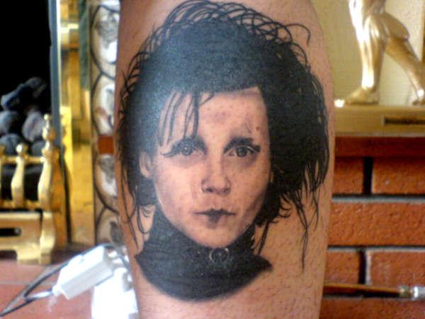 Edward (jonny depp) tattoo