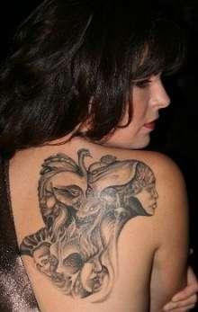 13 faces tattoo
