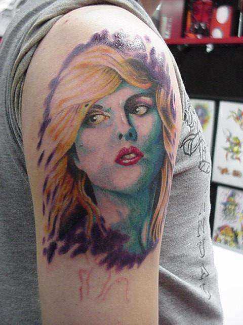 debbie harry tattoo