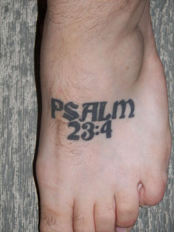 Left Foot tattoo