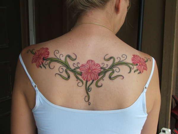 My flower back tattoo