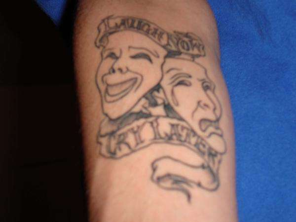 Comedy tragedy tattoo for Comedy and tragedy tattoo