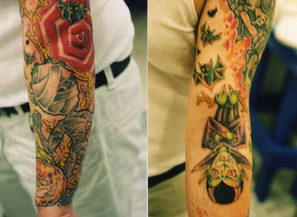 monster sleeve tattoo