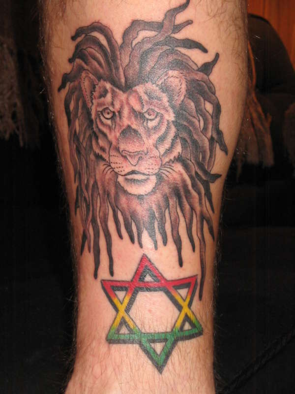 RASTA LION & RASTA STAR tattoo