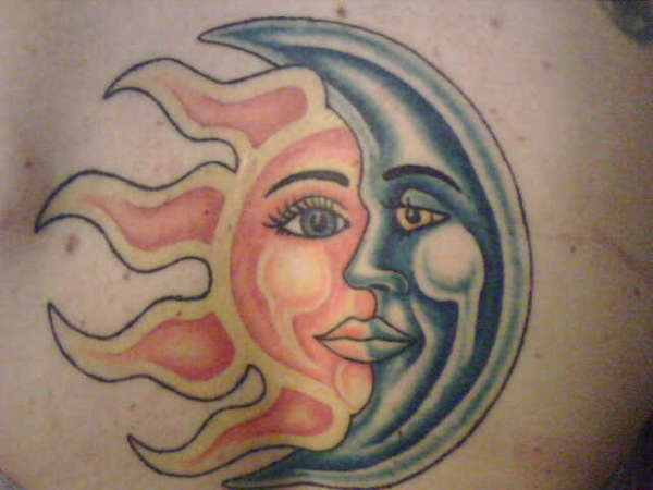 Sun/Moon tattoo