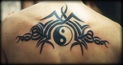 Celtic Ying yang tattoo