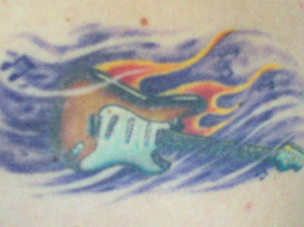 Fender Stratocaster tattoo