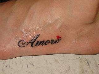 Amore {love} tattoo